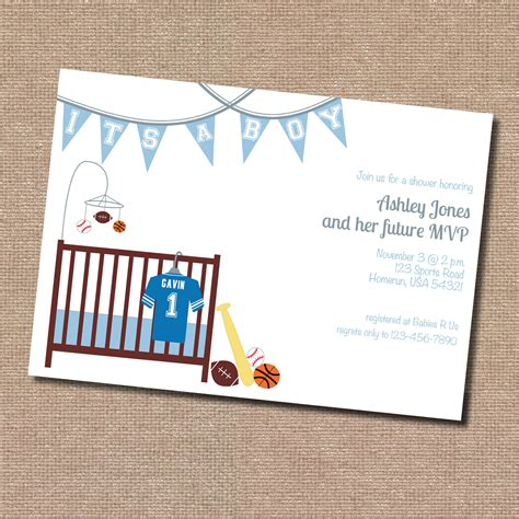 invites for baby shower ideas sports theme baby shower invitation digital file only