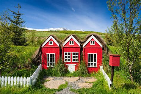 houses in iceland red elf houses in iceland for the icelandic hidden people photograph by matthias hauser