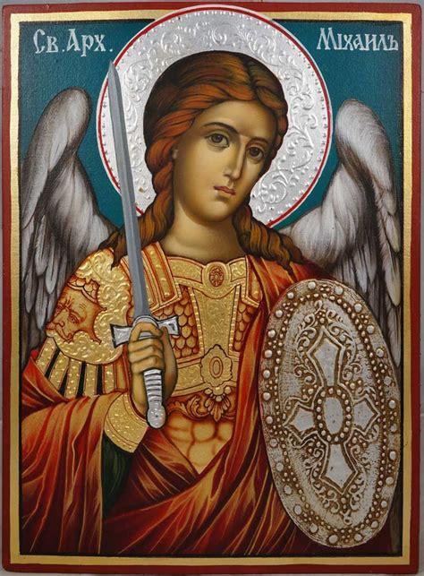orthodox st st michael painted orthodox icon orthodoxy