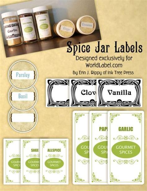 design labels for jars spice jar labels for free by inktreepress com 4 free