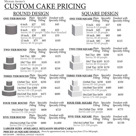 cake price list template issuu celebration cakes religious baby shower and bridal