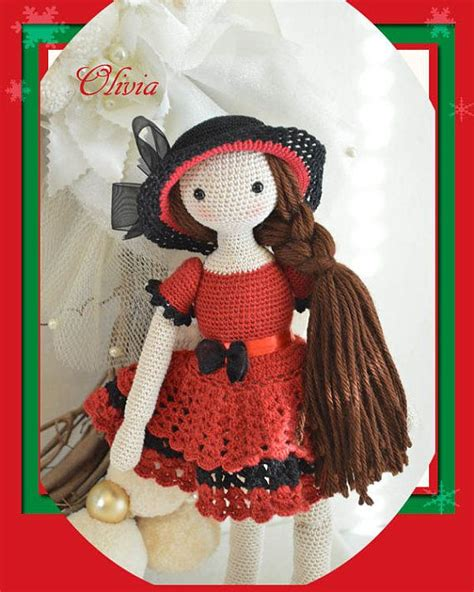 patterns christmas dolls collectible doll elegant crochet doll child friendly