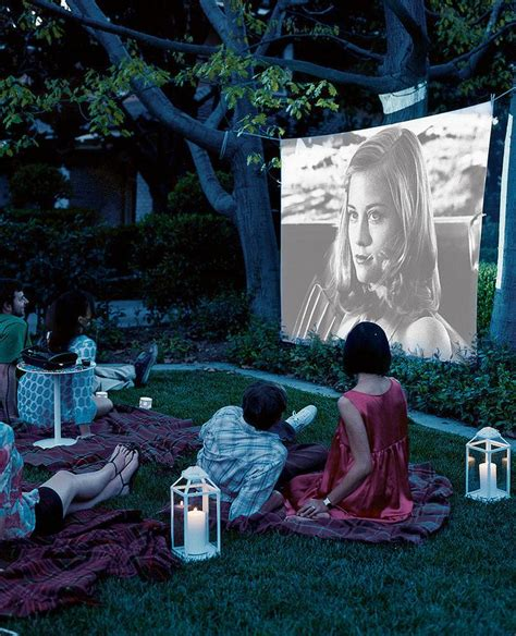 backyard movie party your guide to summer entertaining brewster home