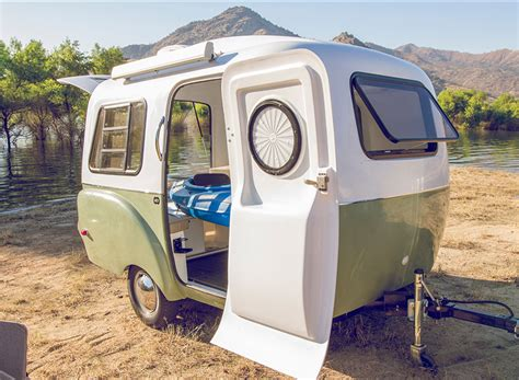 designboom trailer happier cer is a vw minibus inspired trailer with a