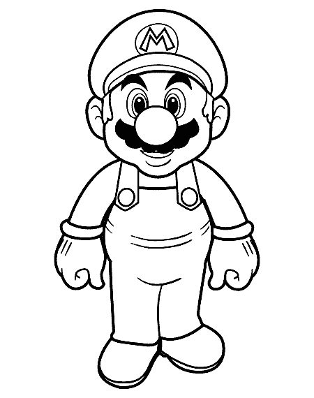 Mario Coloring Pages Printable Mario Coloring Pages Coloring Pages To Print by Mario Coloring Pages Printable