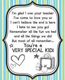 special end of the year message classroom ideas