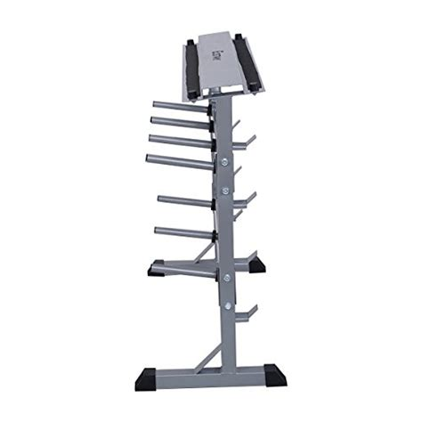 giantex 2 tier 40 barbell dumbbell rack weights storage