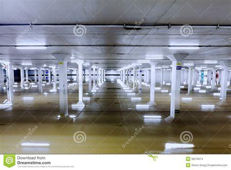 flooded car garage columns stock images image 36319514