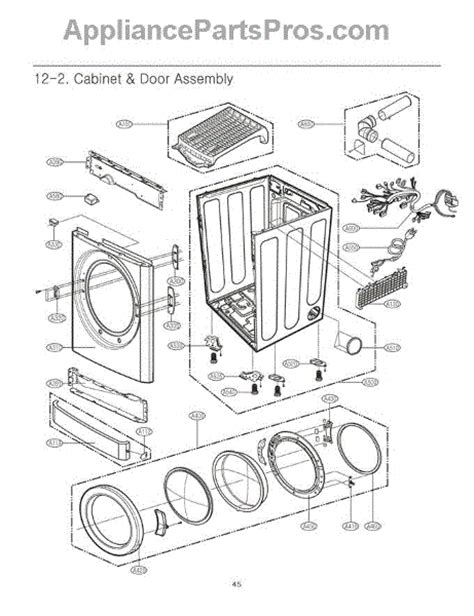 lg dryer parts diagram lg 6871el1019b pcb assembly appliancepartspros