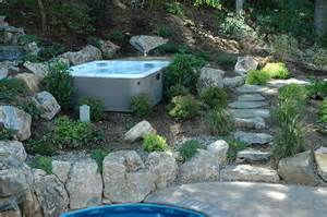 spa landscaping design traditional landscape new