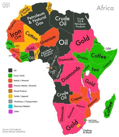 maps 4 africa these maps show every country s most valuable exports