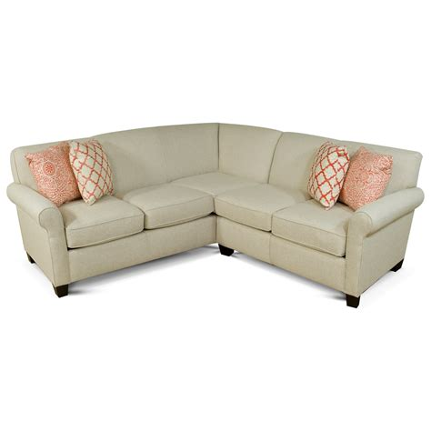 england sectional sofa england angie small corner sectional sofa h l stephens