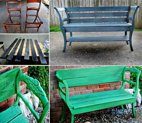 bench chair wonderful diy upcycled chair bench