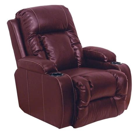 catnapper top gun leather power theater recliner in