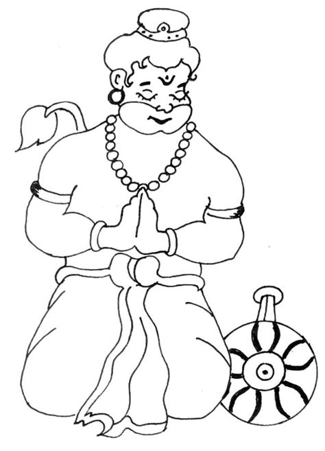free coloring pages of bal hanuman