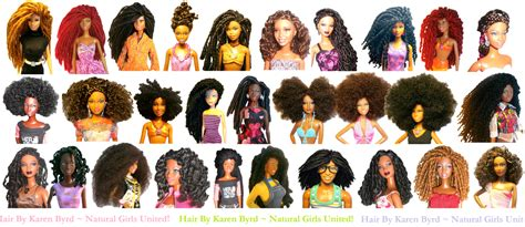 Barbies With Natural Hair Makeover   Natural Hair Dolls