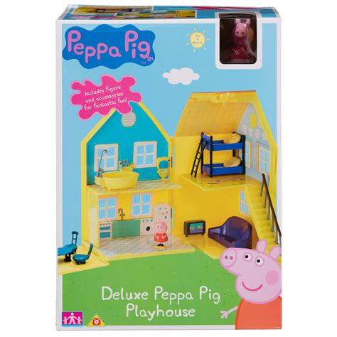 peppa pig play house peppa pig deluxe playhouse play sets toys kids
