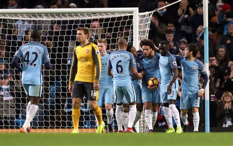 arsenal offside both manchester city goals were offside insists arsenal