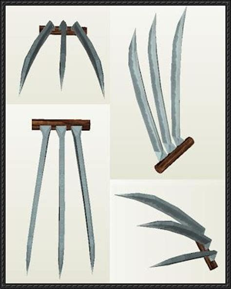 How To Make Origami Wolverine Claws - size wolverine claws free paper craft