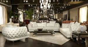 aico ellia tufted leather mansion living set
