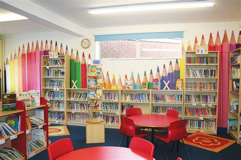 best ui pattern library bowden primary school library pencils feature wall