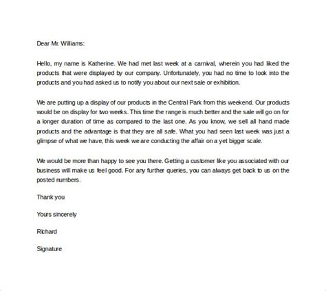 professional letter format exle sales letter template writing professional 9 sales