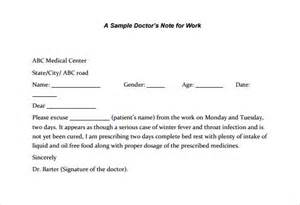 doctors note for work template formal excuse letter for missing work leave letter