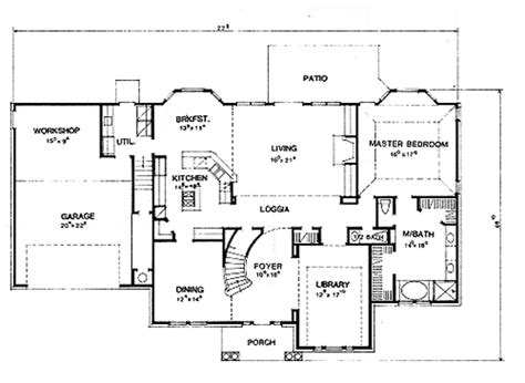 house layout plans the hton 2966 4 bedrooms and 3 baths the house designers