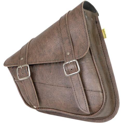 swing arm bags leather bag w3 brown for swingarm harley davidson xl