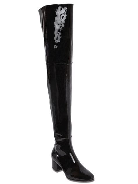 the knee leather boots the knee patent leather boots yu boots