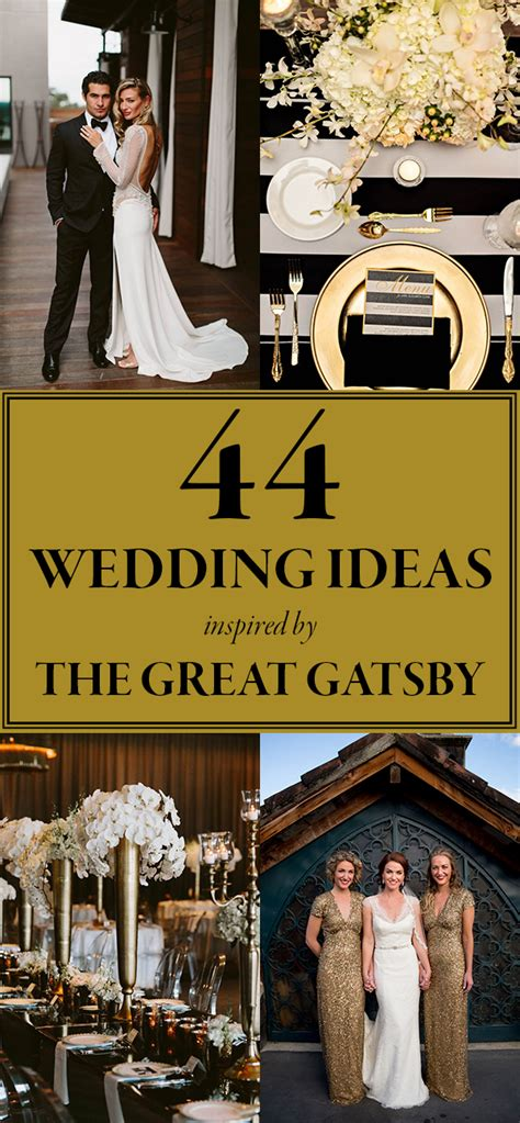 Great Wedding Ideas these gatsby wedding ideas are for your vintage