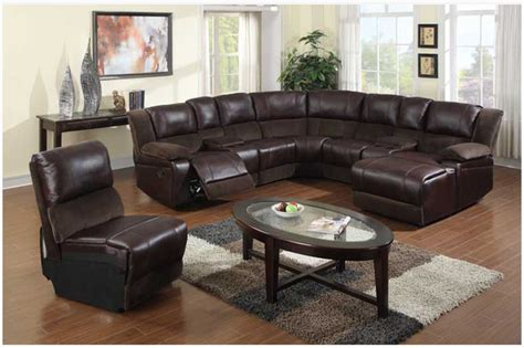 Leather Sofa With Chaise And Recliner F Brown Microfiber Leather Reclining Sectional Sofa Chaise Recliner Soft View In Your Room