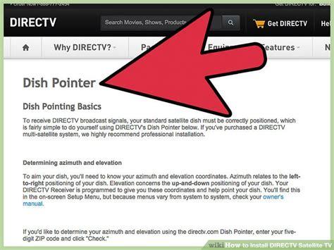 easy ways  install directv satellite tv wikihow