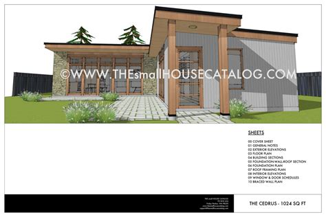 No 28 Cedrus Modern House Plan Free The Small House Tiny House Roof Plans