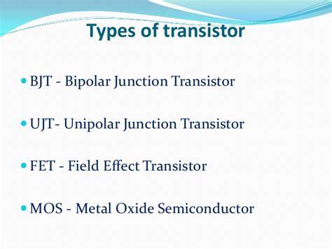 transistor bjt ppt transistors ppt by behin