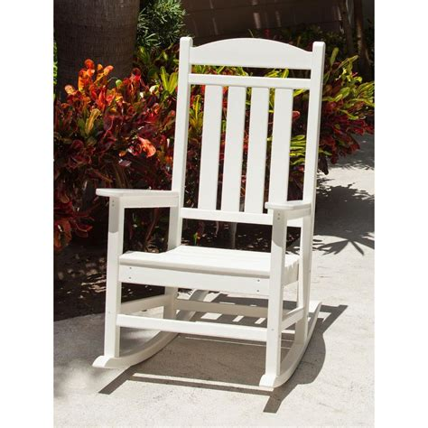 white outdoor rocking chair white patio rocker rocking chair polywood weather