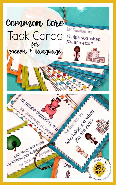 task cards common task cards for speech therapy k 2 giveaway