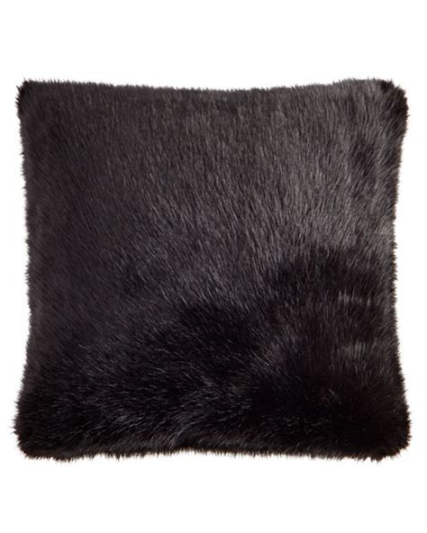 Faux Fur Pillow by Faux Fur Pillow With Feather