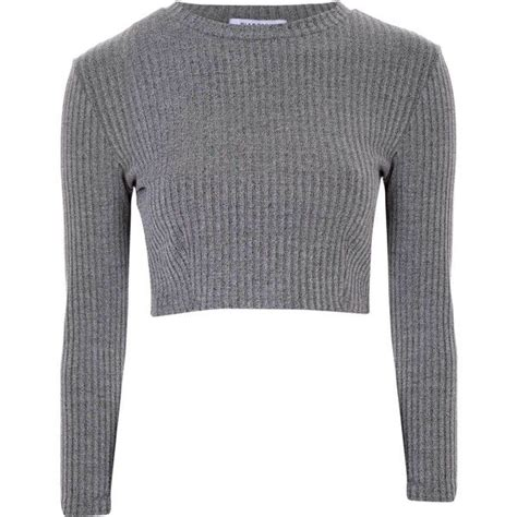best grey 17 best ideas about ribbed crop top on pinterest ribbed