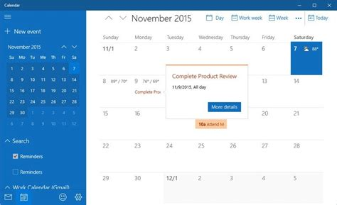 make a calendar app sync calendar with the calendar app in windows 10