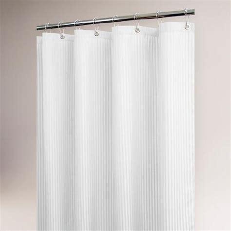 white satin curtains white satin stripe shower curtain world market