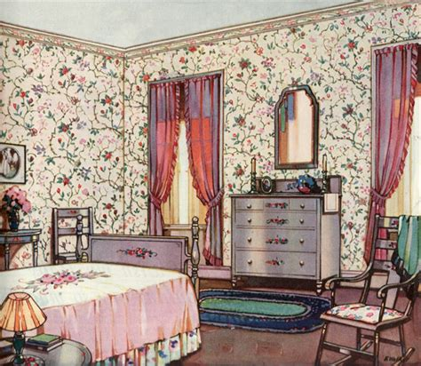 1920s Bedroom by 1924 Floral Bedroom Design Inspiration From 20s