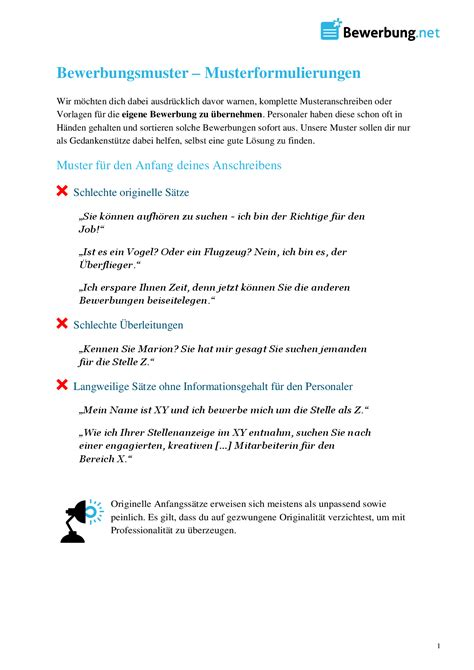 Bewerbung Unternehmensbezug Beispiele Bewerbungsmuster Formulierungen F 252 R Deine Bewerbung