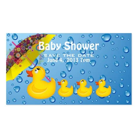 save the date templates for baby shower baby shower save the date yellow duckie zazzle