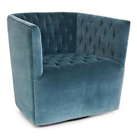 celestial blue bond upholstered swivel chair