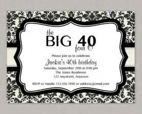 40th birthday invitation templates 40th birthday invitations theruntime