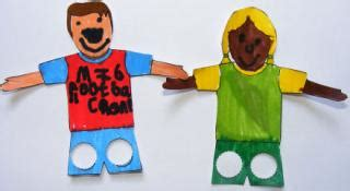 How To Make A Finger Football Out Of Paper - puppets craft ideas for children
