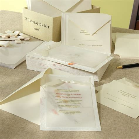 Handmade Kits - ivory handmade paper diy invitation kit