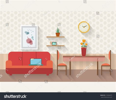 Living Room Vector Images Living Room Dining Room Furniture เวกเตอร สต อก
