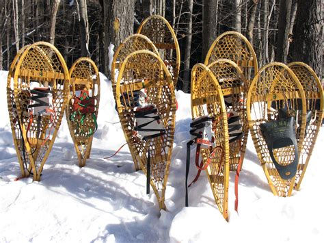 Handmade Snowshoes - welcome the white stuff in handmade snowshoes great